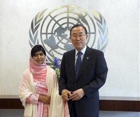 Malala Jusufzai, Ban ki Mun