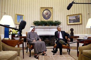 Barak Obama, Mohamed Bin Zajed Al Nahijan