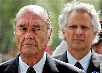 Žak Širak i Dominik de Vilpen