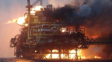 naftna platforma, požar, meksiko