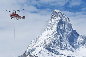 helikopter, alpinisti