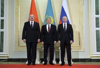 Aleksandar Lukašenko, Nursultan Nazarbajev, Vladimir Putin