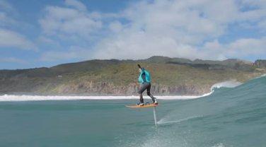 foil boarding, surfer