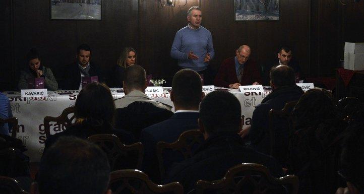 Žarko Rakčević, Građanski pokret, Cetinje