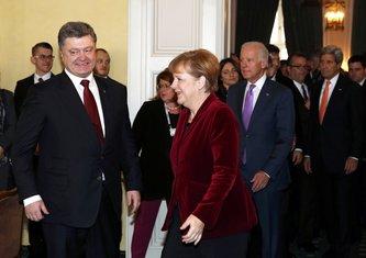 Angela Merkel, Petro Porošenko, Džo Bajden