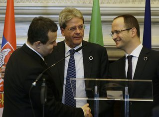 Ivica Dačić, Paolo Đentiloni, Ditmir Bušati