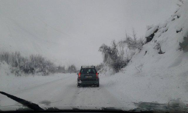 put Podgorca-Nikšić, snijeg