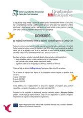 Konkurs za najbolji novinarski tekst u oblasti  ljudskih prava u Crnoj Gori