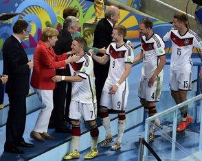 Angela Merkel na utakmici Njemačka - Argentina