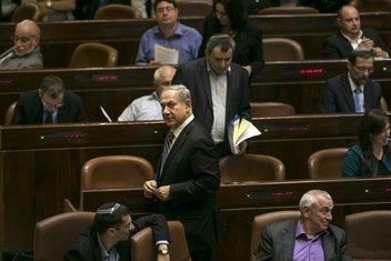 Benjamin Netanjahu, Kneset