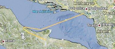 dalekovod, Italija - Crna Gora
