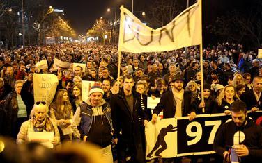 Na protestu po procjeni organizatora bilo 10 hiljada ljudi