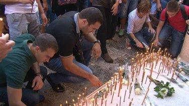 Protestni skup zbog ubistva Jovana Kosaća