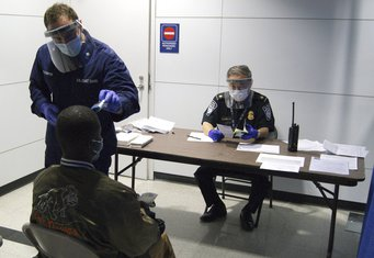 ebola, aerodrom Čikago
