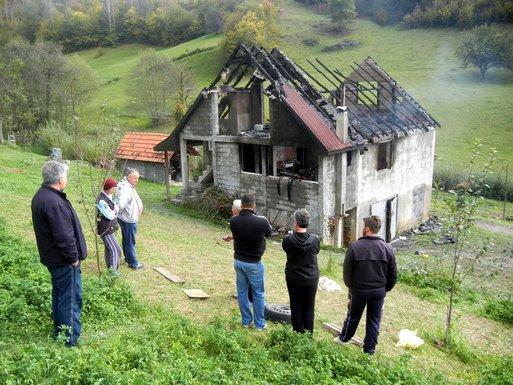 požar, kuća Madžgalja