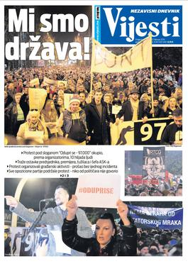 """Naslovna strana """"Vijesti"""" za 17. februar"""