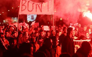 Sinoć na protestu u Podgorici