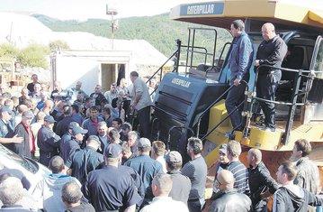 Protest radnika Boksita, Nikšić