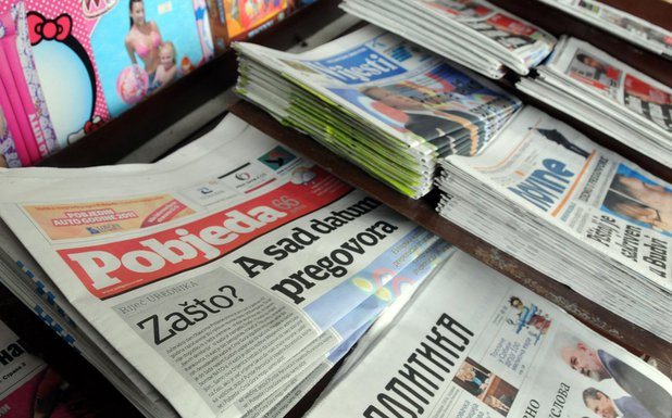 Pobjeda, trafika, novine