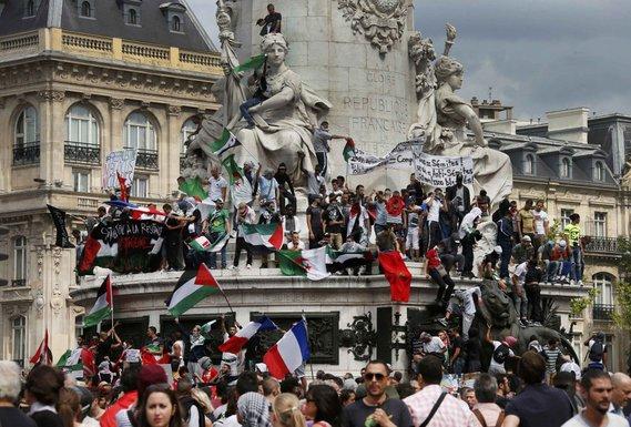 Pariz, izraelska ofanziva, protest