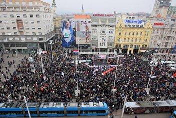 Protesti u Zagrebu
