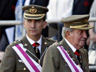 princ Felipe, kralj Huan Karlos