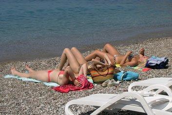 turisti, plaža