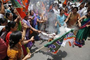Žene, protesti, Indija