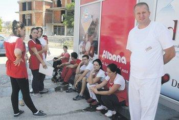 Albona, štrajk