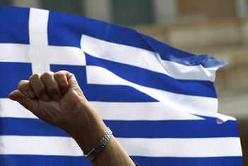 Grčka kriza, sindikati,