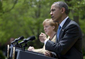 Angela Merkel. Barak Obama