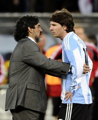 Maradona i Mesi