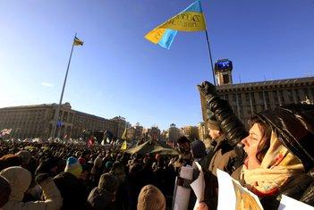 Ukrajina protest, Kijev protest