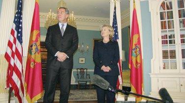 Milo Đukanović, Hilari Klinton