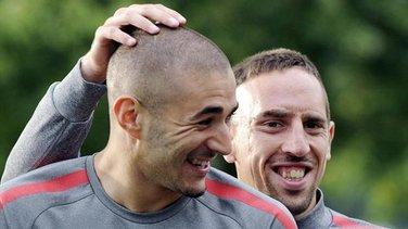 Frank Riberi i Karim Benzema