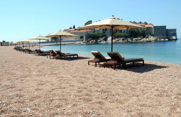 Sveti Stefan, plaža