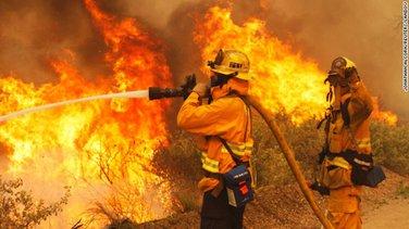 Kalifornija, Požar, vatrogasci