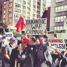 albanska dijaspora Njujork protest