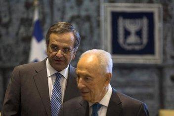 Antonis Samaras, Šimon Peres