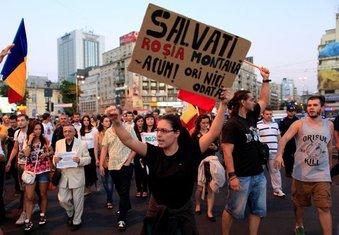 protesti u Rumuniji zbog rudnika zlata