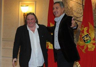 Žerar Depardje, Milo Đukanović