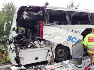 Norveška sudar autobusa