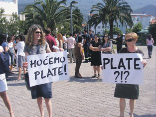 Protest radnika Budva