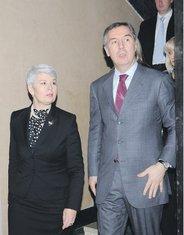Jadranka Kosor, Milo Đukanović