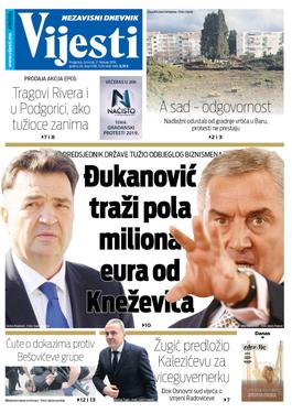 """Naslovna strana """"Vijesti"""" za 21. februar"""