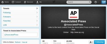 AP, tviter profil