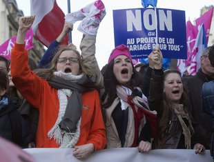 Protesti u Parizu, istopolni brakovi