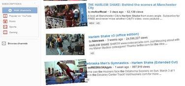 YouTube, Harlem Shake
