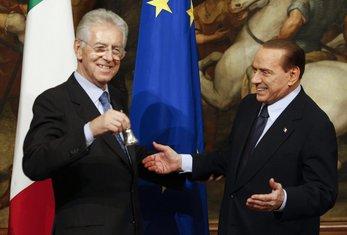 Mario Monti Silvio Berluskoni