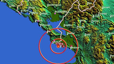 Ulcinj zemljotres